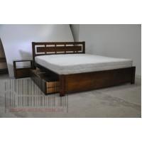 АВРОРА Деревянная кровать в восковой покраске