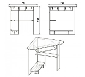 Стол Компьютерный СУ-15