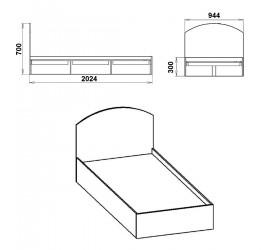 Кровать - 90