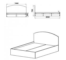 Кровать НЕЖНОСТЬ -140 МДФ