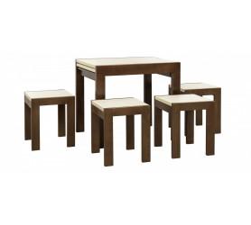 Четыре деревянные табуретки ТВИСТ