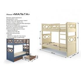 Кровать Двухъярусная Трансформер Мальта