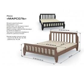 Кровать Деревянная Марсель