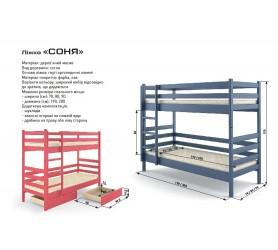 Кровать Двухъярусная Трансформер Соня