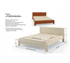 Кровать Деревянная Тоскана