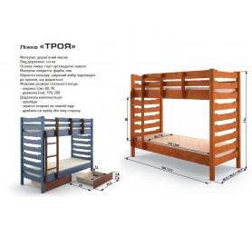 Кровать Двухъярусная Трансформер Троя