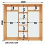 Шкаф-Купе (ШК-4) 2300х2200х450