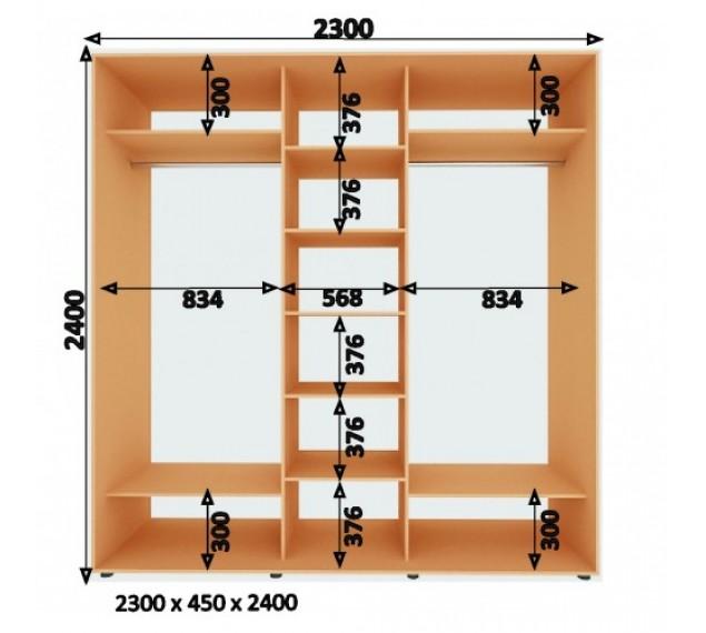 Шкаф-Купе (ШК-4) 2300х2400х450